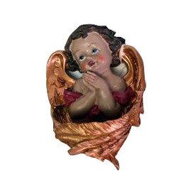 W.F. Peters Wijwaterbakje Engel hg 11 cm