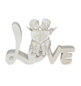 """W.F. Peters Engeltjes zittend """"Love"""""""