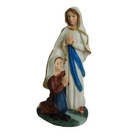W.F. Peters Lourdes met Bernadette hg 20 cm