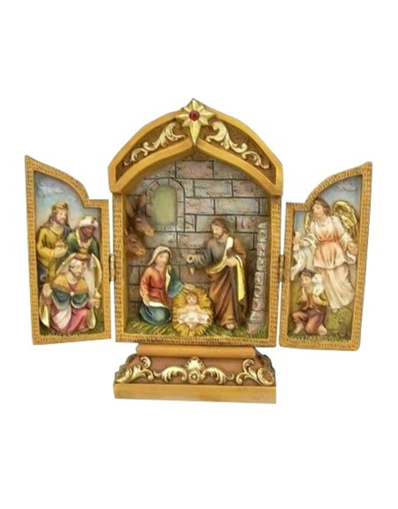 W.F. Peters Drieluik Heilige Familie hg 18 cm