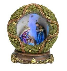 W.F. Peters Heilige Familie met led. verlichting hg 17,5 cm