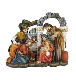 W.F. Peters Kerststuk 3 Wijzen hg 14 cm