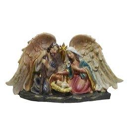 W.F. Peters kerststalletje  met jezus  2 ass.11 cm