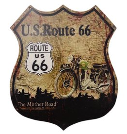 W.F. Peters Tin sign ''U.S. Route 66''