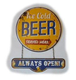 W.F. Peters Wandplaat ''Ice cold Beer''