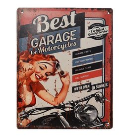 W.F. Peters Tin Sign ''Best Garage for motorcycles''
