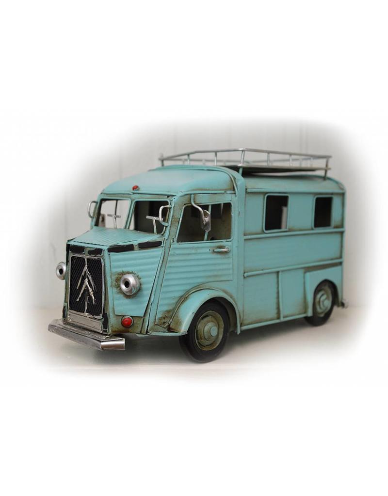 W.F. Peters Blauwe campeerbus 25x12x15cm