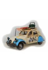 W.F. Peters Auto beige met luifel 27x16x15cm