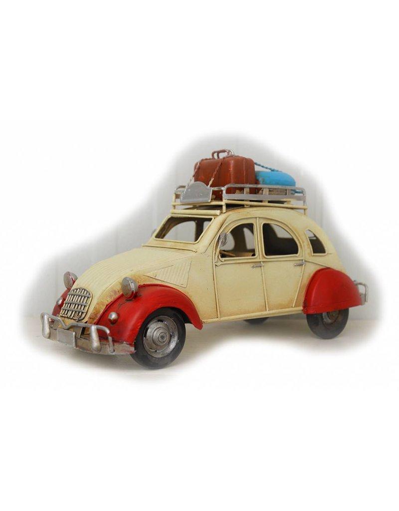 W.F. Peters Auto beige rood 26x11x14cm