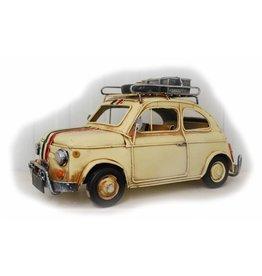 W.F. Peters Auto beige met koffer 27x12x14cm