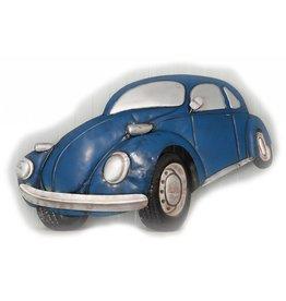 W.F. Peters Wanddeco auto metaal blauw 3D effect