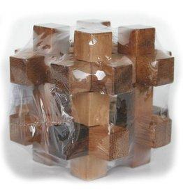 H.Originals Houten puzzel met bal 7 X 7 CM 1 assortiment