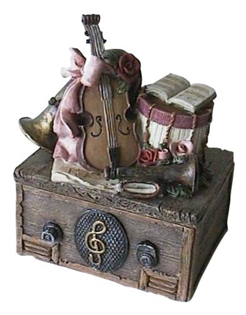H.Originals Doosje met muziek instrument 12 X 10 CM 1 assortiment