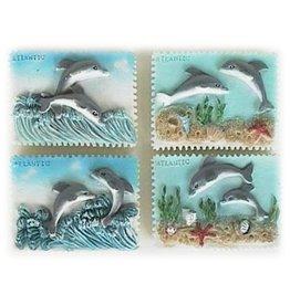 H.Originals Postzegel dolfijn 5 X 7 CM 4 assortiment