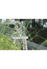 Dutch mood | Zaltii Houten mini krukje met witte rand, 25x15x20 centimeter.