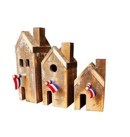 Dutch mood | Zaltii Decoratieve huisjes van hout.