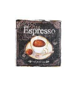 Dutch mood | Zaltii Houten onderzetter coffee time 9x9 centimeter.