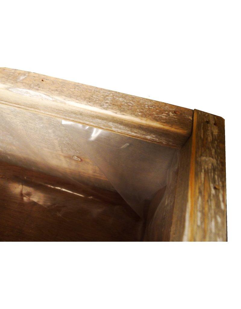 Dutch mood | Zaltii Houten plantenbak met metalen handvatten 14x50x16 centimeter.