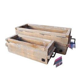 Dutch mood | Zaltii Set van 2 houten plantenbakken.