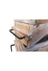 Dutch mood | Zaltii Set van 2 houten plantenbakken, grootste afmeting 51x19x17 centimeter.