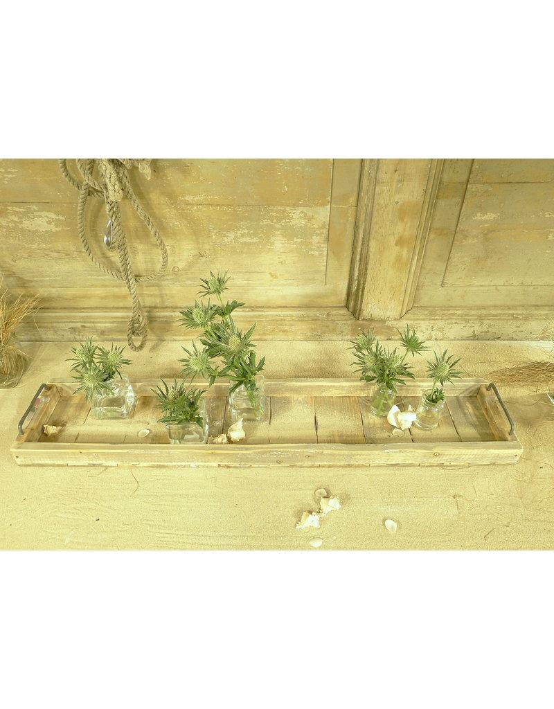 Dutch mood | Zaltii Langste houten dienblad met metalen handvatten uit de Marianne serie 98x20 centimeter!