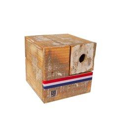 Dutch mood | Zaltii Vogelhuisje kubus 18x18x18 centimeter