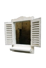 Dutch mood | Zaltii Tuinspiegel met luiken en vensterbank 30x47x12 centimeter