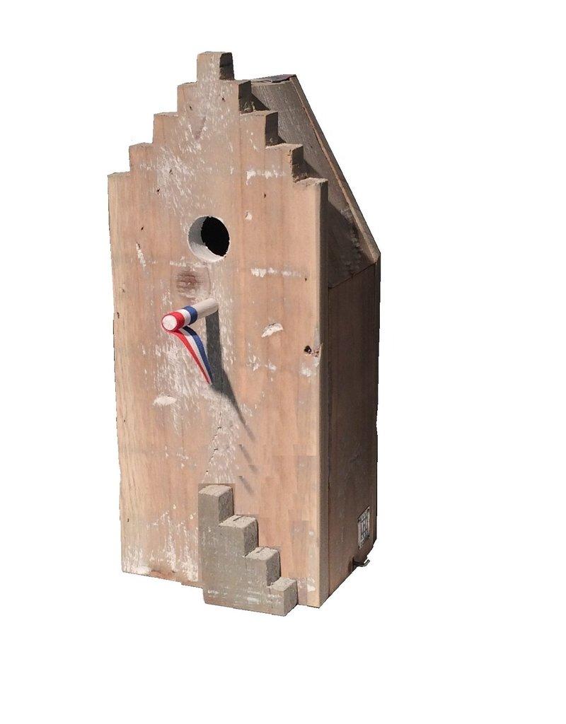 Dutch mood | Zaltii Houten vogelhuisjes Grachtenpanden 15x15x36 centimeter