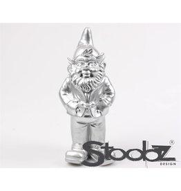 Stoobz STOOBZ KABOUTER STAAND ZILVER 17X14X33 CM