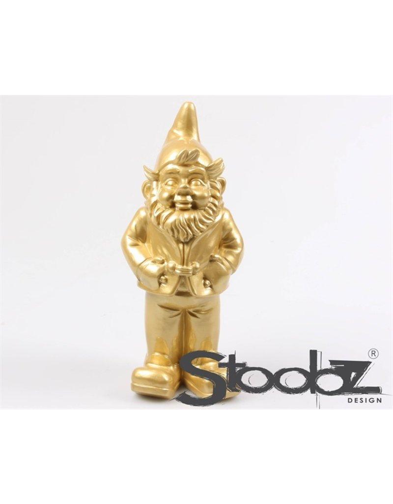 Stoobz STOOBZ KABOUTER STAAND GOUD 17X14X33 CM