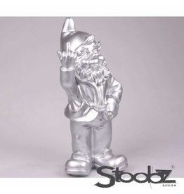 Stoobz KABOUTER 2 F*CK YOU ZILVER 16X12X32 CM