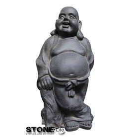 Stone-Lite BOEDDHA STAAND 33X26X63 DONKER GRIJS