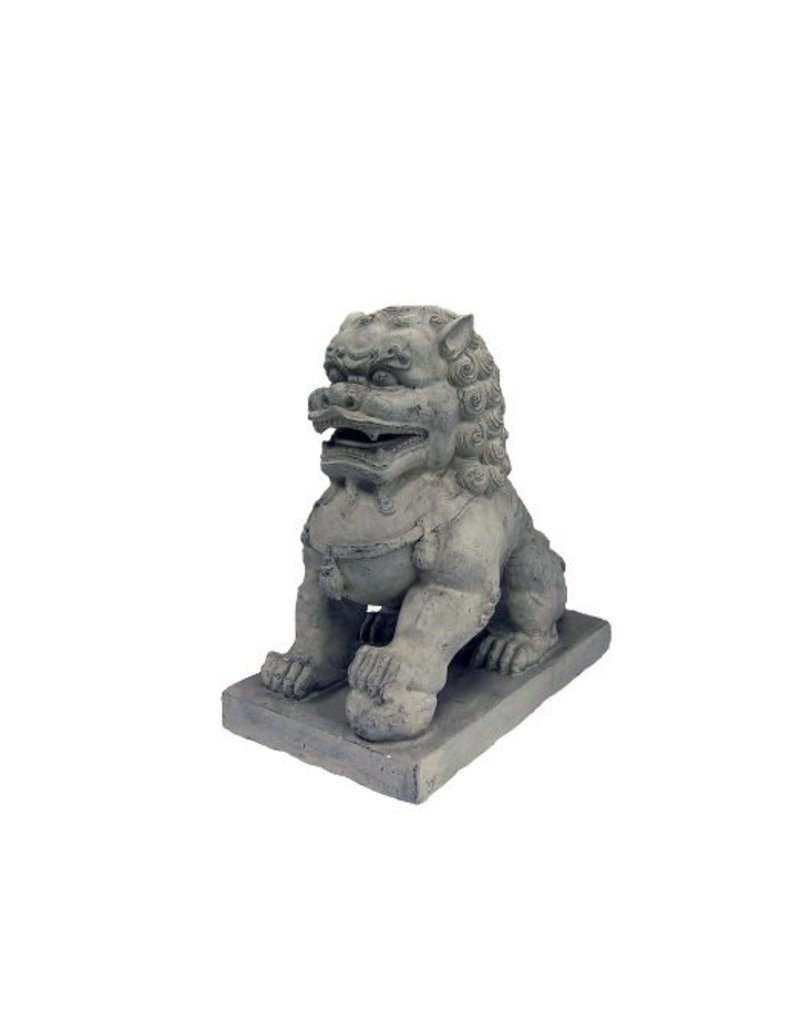 Stone-Lite LEEUW LINKS 36X20X36 CM DONKER GRIJS