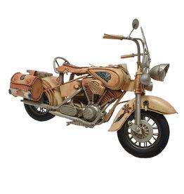 W.F. Peters Motor lila met zijtassen 40x18,5x26 cm