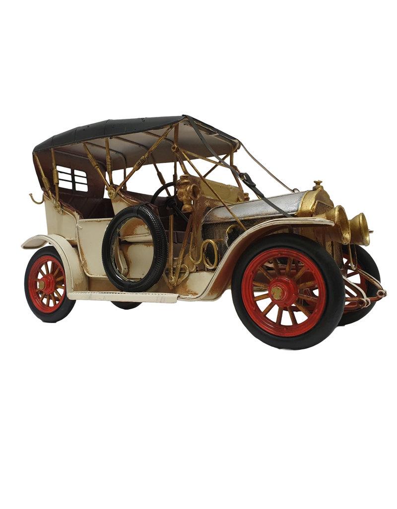 W.F. Peters Oldtimer crême zilver 33x13x19 cm
