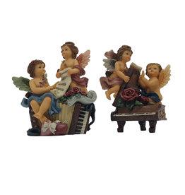 H.Originals Engel op piano 13 X 10 CM 2 assortiment