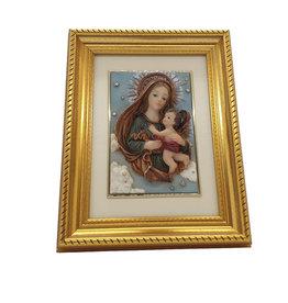 H.Originals Jozef en maria met kind schilderij 21 X 16 CM 1 assortiment