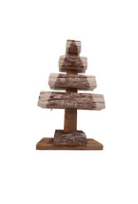 Houten kerstboom 38 centimeter dennenhout