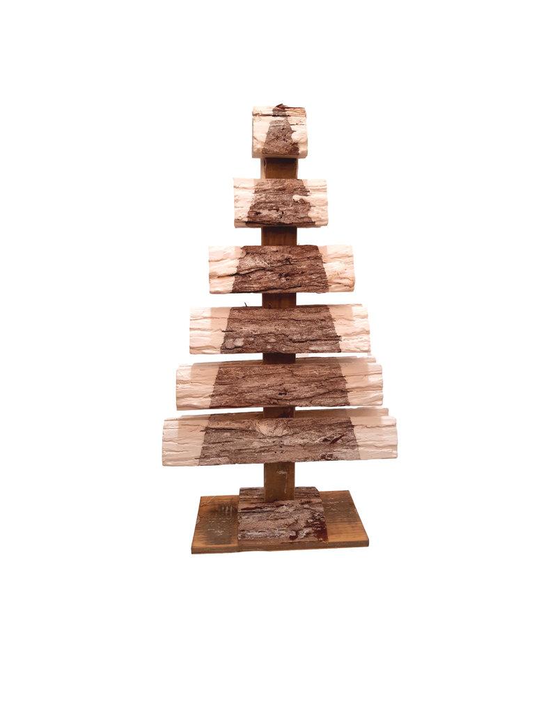 Houten kerstboom 52 centimeter dennenhout