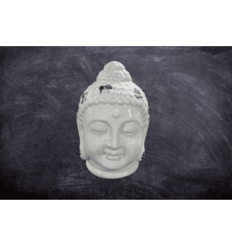 H.Originals Keramiek Boeddha hoofd wit 24cm