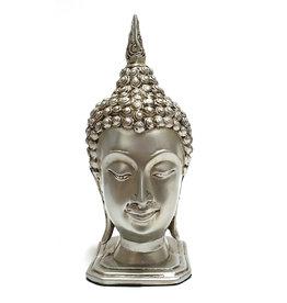 H.Originals Thais Boeddha hoofd 24cm zilver