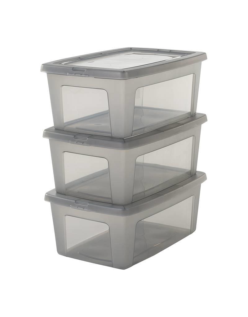 IRIS Modular Clear Box - 11 liter - set van 3