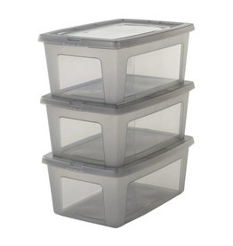 IRIS Modular Clear Box - 11 liter - set van 3