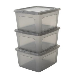 IRIS Modular Clear Box - 18 liter - set van 3