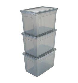 IRIS Modular Clear Box - 70 liter - set van 3