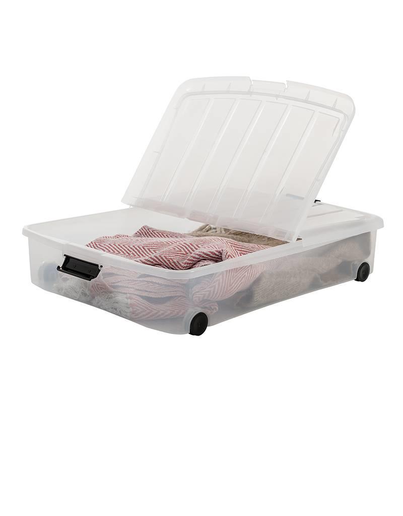 IRIS Carry Stocker- Onder Bed Box - 50 liter - set van 2