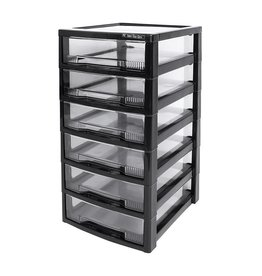 IRIS Super Clear Chest - ladekast - 6 lades
