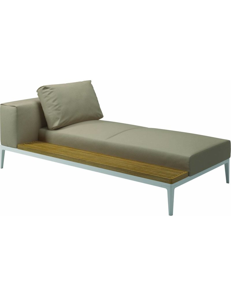Gloster Gloster Grid Lounge Tuinbank - Chaise Unit (L/R)