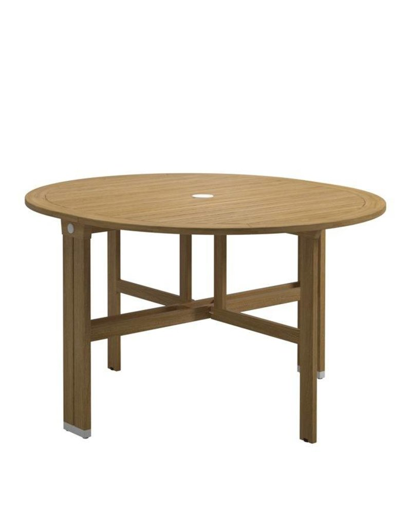 Ronde Tuin Tafel.Gloster Gloster Voyager Ronde Tuintafel 115x130 Cm