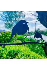 Metalbird Metalbird Roodborst Duo